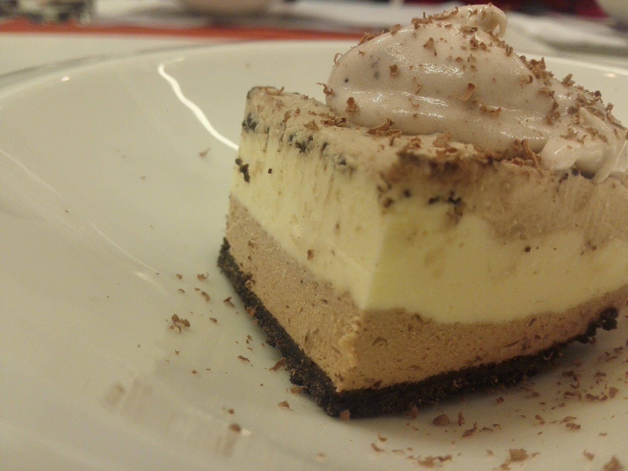 Receta de cheesecake con 3 chocolates