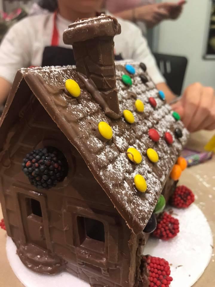 Como hacer una casita de chocolate 2018
